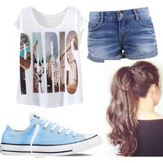 Paris look by mayizquierdo13 on Polyvore featuring polyvore fashion style Converse