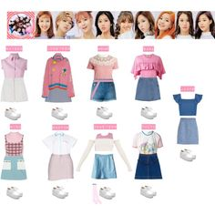 A fashion look from January 2017 featuring surplice dress, sweatshirt hoodies and pattern shirt. Browse and shop related looks. Kpop Fashion Outfits, Stage Outfits, Korean Outfits, Girl Outfits, Korean Girl Fashion, Ulzzang Fashion, Korea Fashion, Twice Clothing, Pop Clothing