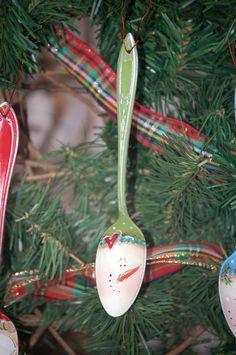 Snowman Spoon Ornament. $9.00, via Etsy.