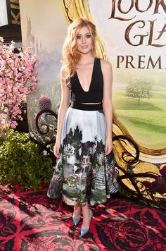 "Katherine McNamara attends the premiere of Disney's ""Alice Through The Looking Glass on May 23, 2016"