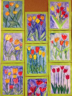 54 Ideas spring art projects for middle school mothers Spring Arts And Crafts, Spring Art Projects, 2nd Grade Art, Easter Art, Kindergarten Art, Art Lessons Elementary, Arte Popular, Art Lesson Plans, Art Classroom