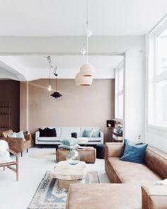 Peinture murs salon beige rosé doux et raffiné | Pinterest | Salons ...