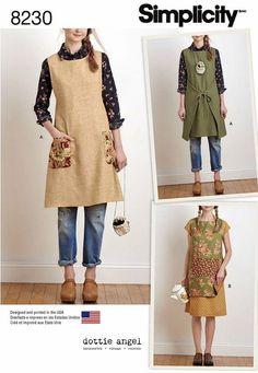 Apron Dress Pattern Reversible Tabard Pattern Dottie by blue510