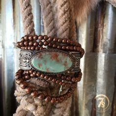Bristol Bracelet - Six strand beaded copper bracelet. Perfect for layering with your favorite turquoise or sterling! Cowgirl style. Rodeo fashion. Women's Western Wear. Ranch style. Boho Cowgirl.
