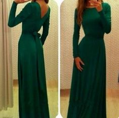 Long Sleeves Prom Dress, Round Neck Long Prom Dresses,high quality prom dress,long prom dress, Elegant Women dress,Party dress. Evening Dress L226