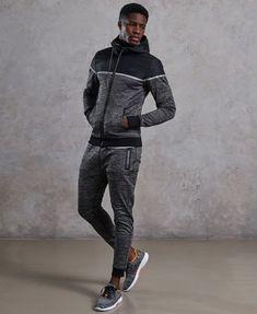 Shop Superdry Mens Training Hybrid Zip Hoodie in Charcoal Grit. Mens Athletic Fashion, Athletic Outfits, Jogging, Mens Sweatshirts, Men's Hoodies, Athleisure Outfits, Hoodie Outfit, Gym Wear, Cool Shirts