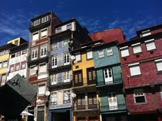 Fachadas en Ribeira, Oporto