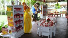 Beauty and the Beast Party: So gorgeous I wish I was the Bday Gal!