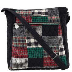 Ivy Cross Body - The Cross Body from our Ivy Collection comes in a sophisticated patchwork of  tartan red, ivy green and crisp black with a jet black microsuede trim, base strap and gussets. With a single, 52