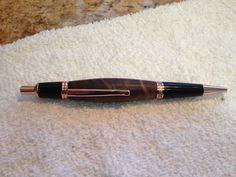 Walnut Wood Click Wall Street pen