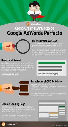 Cómo crear el anuncio de Google AdWords perfecto #infografia #infographic #marketing