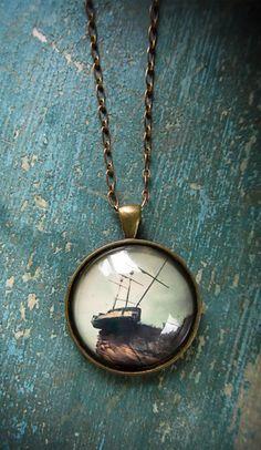Pirate Ship Necklace Pendant