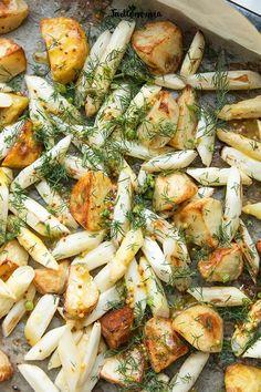 Vegetarian Recipes, Cooking Recipes, Calzone, Paella, Vegetable Pizza, Potato Salad, Recipies, Potatoes, Dinner