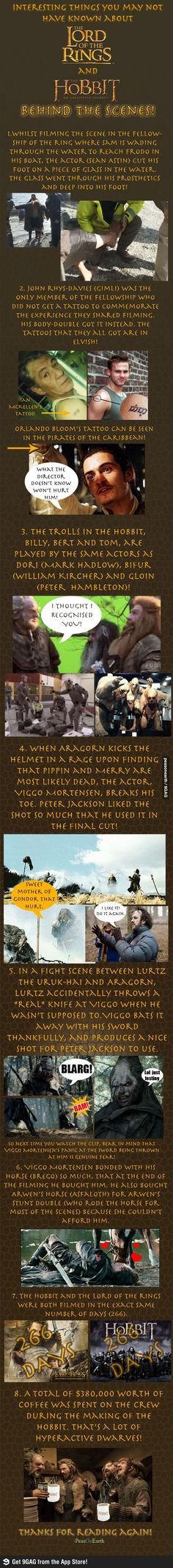 LOTR and Hobbit facts