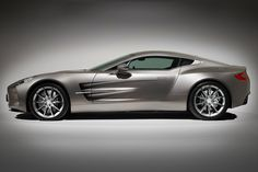 """Aston Martin One-77   $2 million  The Aston Martin One-77 was revealed to a chorus of oohs and aahs at the 2009 Geneva Motor Show. As its name implies, it was produced in a run of 77 units. It appeared in the videogames Forza Motorsport 3 and Test Drive Unlimited 2, and in 2009 Top Gear described it as """"stunning."""""""