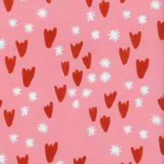 Clover - Tulips in Pink - Alexia Abegg for Cotton + Steel - 4027-2 - 1/2 yd