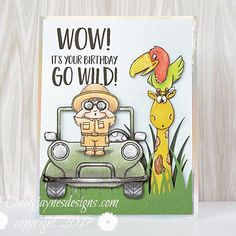 Yipee! So happy that we finally release the Go Wild Clearstamp Set and Dies. � � #cardmaking #papercrafts #copiccoloring #handmadecards  #gerdasteinerdesigns #gsdstamps #kartenbasteln #papercrafting #stamping #clearstamps � �