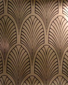 The Art Deco Home - Arts & Crafts Home - wallpaper for the hall?