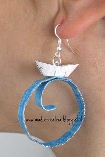 Summer: earrings paper