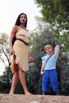 Pocahontas and John Smith Cosplay Scene by Chingrish.deviantart.com