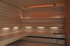 Light in Sauna; the light behind the back rest.