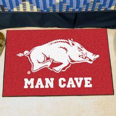 Collegiate University of Arkansas Man Cave Starter Area Rug