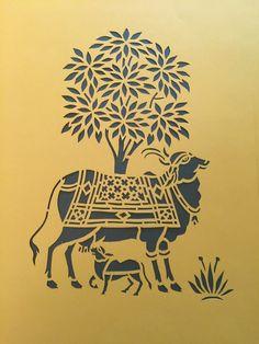 Roopa Hariprasad - Google+ Madhubani Art, Madhubani Painting, Worli Painting, Fabric Painting, Clay Wall Art, Indian Folk Art, India Art, Traditional Paintings, Indian Paintings