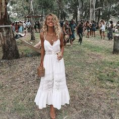 Boho chic style outfits - 2018 Fashion Women Clothing Summer Lace Dress Female Hollow Out Maxi Whiterricdress – Boho chic style outfits Lace Summer Dresses, Sexy Dresses, Casual Dresses, White Summer Dresses, White Sundress Long, White Sundress Wedding, Boho Sundress, Bridal Dresses, Boho Style Dresses