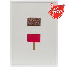 Ice Lollies - Three prints by Dan Cottrell exclusive to Pedlars in editions of signed, numbered and available framed or unframed. Posters Diy, Love Ice Cream, Flat Ideas, Dan, Vintage Items, Diy Crafts, Symbols, Letters