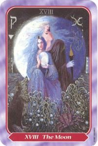 September 14 Tarot Card: The Moon (Spiral deck) Trust your intuition to help you read into the confusing mysteries of your life, and the people in it