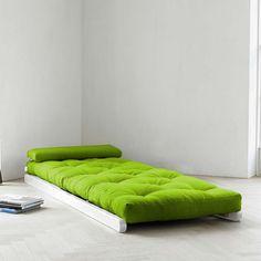 Figo Lime With White Frame by Fresh Futon | Fab.com