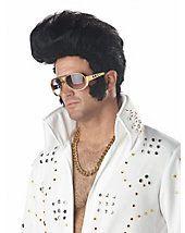 Men - Black Rock N' Roll Adult Wig