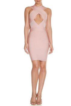 Vina Bandage Dress- Nude