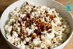Karamel zeezout popcorn - Uit de pan van San