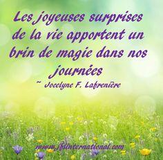 Les joyeuses surprises de la vie apportent un brin de magie dans nos journées.