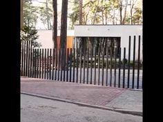 Now That is a Modern Fence ! - YouTube