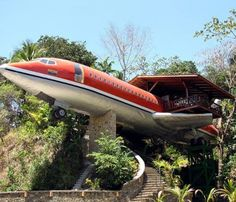 Hotel Costa Verde, Quepos , Costa Rica. In the costal rainforest of Costa Rica, this hotel is made inside a 1965 model Boeing 727 and creates two wonderful suites. It is apt for a romantic stay. ,from Iryna