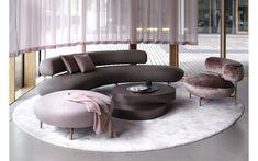 Living Room Seductive Curved Sofas For A Modern Living Room Design round sofa inspirations 11 Sofa Furniture, Luxury Furniture, Furniture Design, Furniture Market, Cheap Furniture, Furniture Plans, Custom Furniture, Furniture Sets, Living Room Sofa