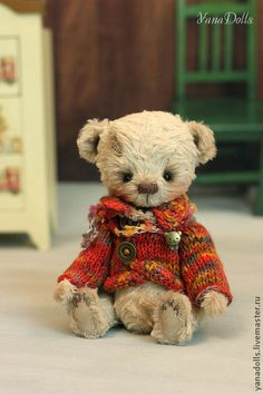 Мишки Тедди ручной работы. Ярмарка Мастеров - ручная работа Марик. Handmade.