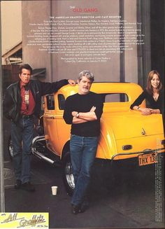 American Graffiti cast and coupe reunion, photographed by Annie Leibovitz January 2000 for Vanity Fair's April 2000 issue. American Graffiti, Pt Cruiser, 1932 Ford, Sweet Cars, American Muscle Cars, Hot Cars, Custom Cars, Vintage Cars, Classic Cars
