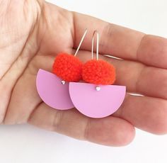These gorgeous earrings are just the right amount of colour and pom!