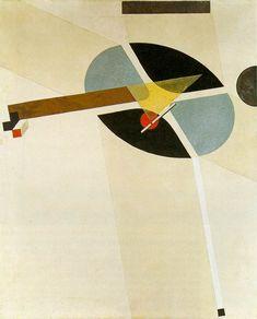 Page: Proun G7  Artist: El Lissitzky  Completion Date: 1923  Style: Constructivism  Series: Prouns  Genre: design  Technique: tempera, pencil, varnish  Material: canvas  Dimensions: 77 x 62 cm  Gallery: Kunstsammlung Nordrhein-Westfalen, Dusseldorf, Germany  Tags: architectural drawings