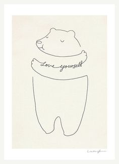 Love Yourself Art Print by Doodling A Smile - contemporary - artwork - Etsy