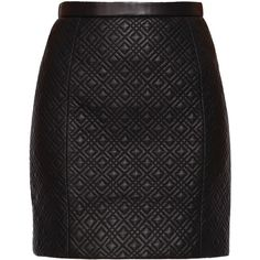Jason Wu Quilted Leather Skirt (28,615 INR) ❤ liked on Polyvore featuring skirts