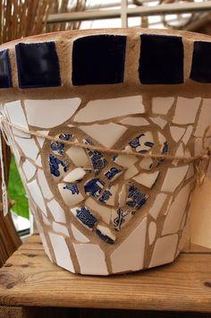 Mosaic pot - Folksy