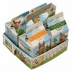 Heirloom Seed Caddy-grow your veggies in these HARRY APPROVED milk cartons