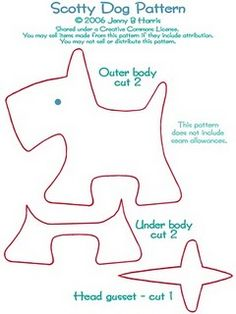 Scotty dog plushie pattern