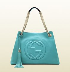 GUCCI soho light blue leather shoulder bag... might have to sell out LV for this one...