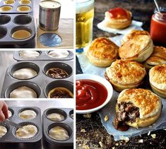 Party Pies (Mini Beef Pies) - the classic Australian party / footy food, in mini form. Easy to make and freezes brilliantly. Beef Kabob Recipes, Mini Pie Recipes, Cooking Recipes, Curry Recipes, Diet Recipes, Beef Pies, Beef Gravy, Recipetin Eats, Pie