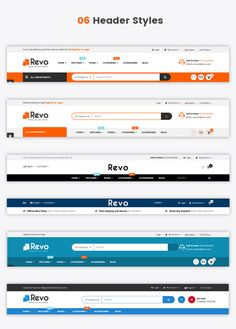 Buy Revo - Responsive MultiPurpose HTML 5 Template (Mobile Layouts Included) by magentech on ThemeForest. BigCommerce Versions Shopify Versions OpenCart Versions Revo HTML is a MultiPurpose HTML 5 Template for any online s. Wireframe Design, Navigation Design, Footer Design, Ui Ux Design, Flat Design, Website Header Design, Corporate Website Design, Layout Design, Web Layout